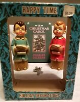 Happy Time Holiday Decorations Commodore Japan Vintage Christmas Carolers Bonus