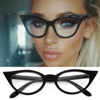Womens 1960's Retro Vintage Accent Cat eye Eyeglass frames Glasses Clear Lenses