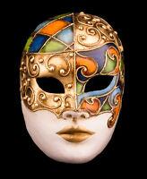 Maschera Di Venezia Viso Di Lusso IN Carta Pesta -creazione artisanale-2155 - E9