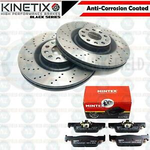 FOR SMART FORTWO FORFOUR FRONT DRILLED PERFORMANCE BRAKE DISCS MINTEX PADS 258MM