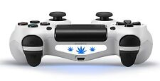 2X playstation ps4 controller light bar decal sticker weed vinyl white cannabis