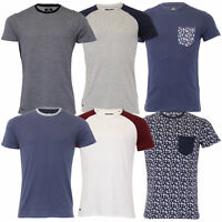 Mens Threadbare 2 Pack T Shirt Short Sleeved Flamingo Printed Plain Mix Colours