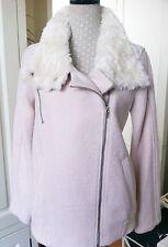 Women's Wool Double Breasted Biker Coats & Jackets
