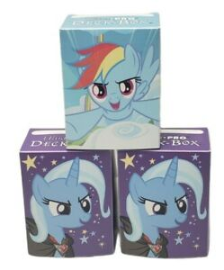 3 My Little Pony: RAINBOW DASH & TRIXIE Ultra Pro Deck Boxes With Dividers 84286