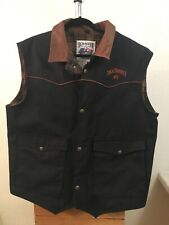Schaefer Outfitter Cattlemans Vest Western Cowboy made in USA Jack Daniel's Logo