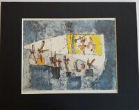 """Roberto Matta """"The Cinema """" Color Lithograph  1973 Black or White Matted"""
