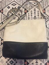 Kate Spade Leather Crossbody Purse Bag Black And White Striped Interior