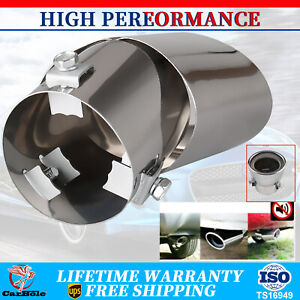 Chrome Car Stainless Steel Exhaust Pipe Tail Muffler Tip Replacement Accessories