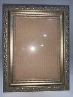 """Victorian Picture Frame Gold Gilt Ornate Wall/Freestanding Holds 5x7"""" Photo"""