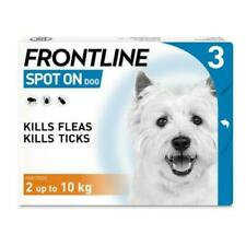 More details for frontline spot on flea & tick treatment small dogs 2-10kg - 3 pipettes - avm-gsl