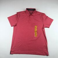 Members Mark Mens Heathered Pink Short Sleeve Golf Performance Polo Shirt Medium