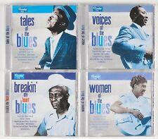 Blues Lot of 4 CDs Women of Blues Tales of Blues Voices Breakin My Heart NEW