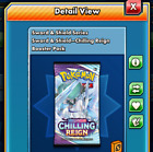 100 Chilling Reign Pokemon TCG Online Booster Pack code PTCGO (Sent In Game)