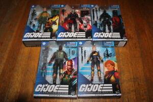 Hasbro G.I. Joe Classified Series Snake Eyes, Scarlett, Duke, Roadblock, Destro