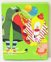 AVON VINTAGE TOOFIE THE CLOWN TOOTHBRUSH HOLDER AND 2 TOOTHBRUSHES IN AVON BOX