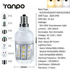 LED Corn Light Bulbs E12 E26 E27 E14 B22 G9 5W 6W 9W 12W 15W 2835 SMD White Lamp