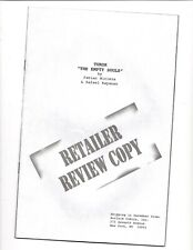 "TUROK ""The EMPTY SOULS"" ACCLAIM VALIANT COMICS RETAILER REVIEW COPY PROMO COMIC"