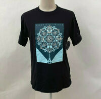 Obey Men's Recycled Organic T-Shirt Earth Crisis Black (Blue) Size M NWT