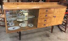 Antique Vintage Art Deco Burr Walnut  Sideboard Buffet Cabinet