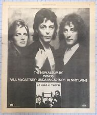 Wings ~ London Town 1978 vintage advertisement, picture, poster, ad The Beatles