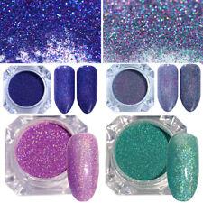4 Boxen Holografisch Nagel Pulver Nail Powder Nagel Kunst Puder Glitter Pigment
