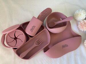 2021 NEW Rose Baby Girl Dinnerware ,BPA & Toxic FREE, Food Grade Silicone AU