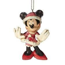 Disney  Traditions Santa  Minnie Mouse Hanging Figurine Christmas A27084