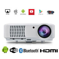 4000 Lumen Beamer WiFi 1080P FULL HD Heimkino HDMI LED Beamer Android Bluetooth