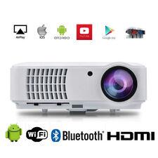 4000 Lumen Beamer WiFi 1080P FULL HD Heimkino HDMI LED Beamer Android Bluetooth
