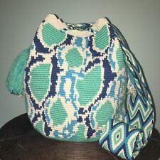 Authentic 100% Wayuu Mochila Colombian Bag Large Size Exclusive python Print