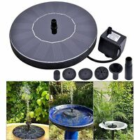 Solar Powered Water Panel Power For Pools Garden Ponds Fountain Pump Outdoor New