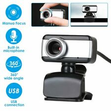 Rotatable Usb2.0 Hd Webcam Camera Video With Microphone For Pc Laptop Desktop