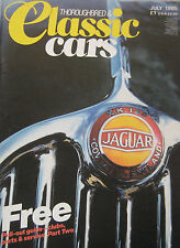 Thoroughbred & Classic Cars magazine July 07/1985 featuirng Delage D8 Porsche