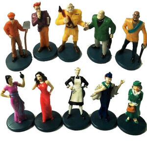 Lot 10X 2002 Clue GAME Suspects Pawns Tokens Movers Characters Figures Parts Toy