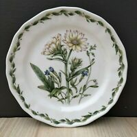 "Noritake GOURMET GARDEN ~ SALAD PLATE Silphium Daisy Aster White Flower 8.25"""