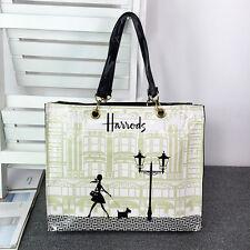Harrods Beautiful Pattern PVC Tote Bag Top-handle Casual Shopper Handbag