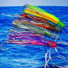 Saltwater Fishing Lure Mahi Tuna Wahoo Dorado Billfish Offshore Trolling Skirt
