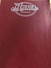 America Complete Songbook Keyboard Vocals Guitar Chords Folk Rock