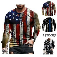 Polyester Tops Short Sleeve Sport T-Shirt Tees 3D Clothes Flag Printed