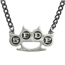 5FDP KNUCKLE DUSTER ALCHEMY PENDANT Five Finger Death Punch OFFICIAL PEWTER MERC
