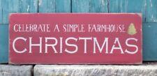 Celebrate A Simple Farmhouse Christmas, Farmhouse Christmas Sign, Christmas Sign