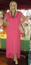 WOMAN'S 2X PINK MAXI DRESS WITH ASYMMETRICAL HEM BY XHILARATION