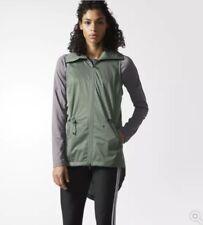 Adidas Climastorm Training Vest Reflective Women's Size Medium Green RETAIL $80