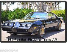 1981 Pontiac Firebird Trans Am Auto Car  Refrigerator / Tool Box  Magnet