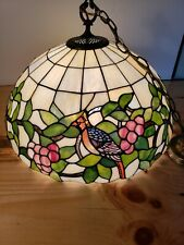 "Tiffany Style Hanging Stained Glass Ceiling Pendant Light Lamp 20"" Shade"