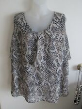 BEME  size  18    Beautiful Slinky Polyester Layered Slinky Top  --  AS NEW