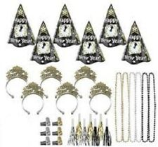 Midnight Countdown New Years Eve 50 Pc Kit For 25 Hats Tiaras Noisemakers