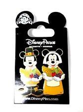 Disney 42557 Mickey Minnie Mouse Thanksgiving Pilgrim Cornucopia Pin Trading
