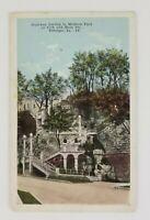 Postcard Stairway Leading to Madison Park Main Street Dubuque Iowa