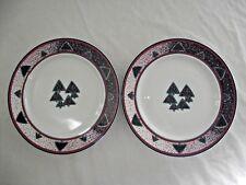 Set of 2 Dansk Winterfest Accent Salad Plates